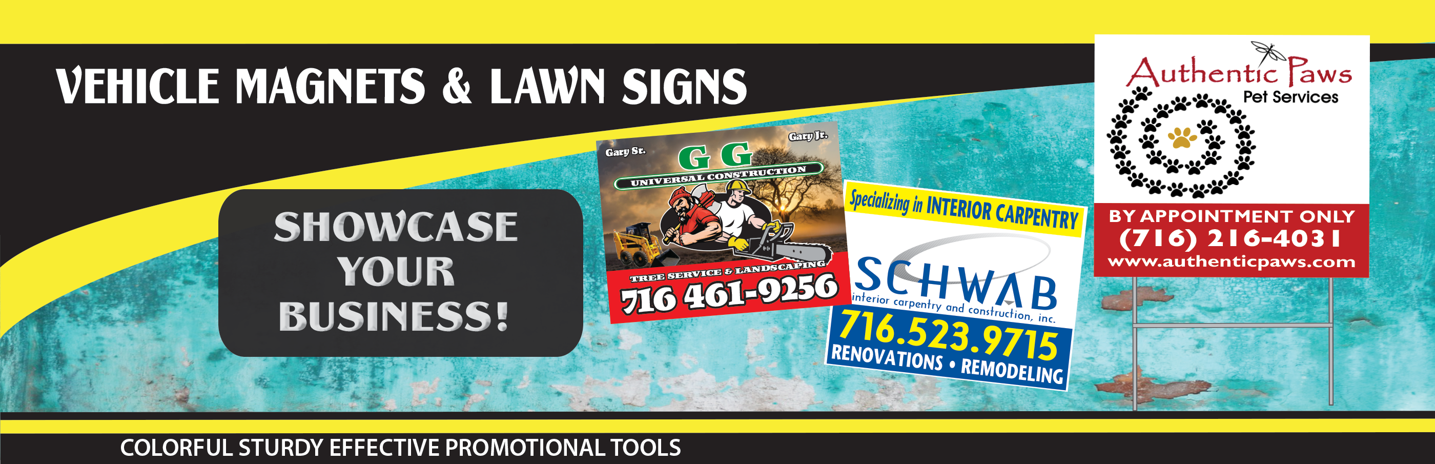 VEHICLE MAGS & LAWN SIGNS